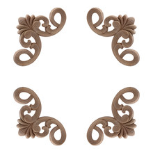Solid Wood Carving Angle, European Home Decoration Small Patch Multi-size Door Cabinet Bed Decorative Applique Wood Applique NEW