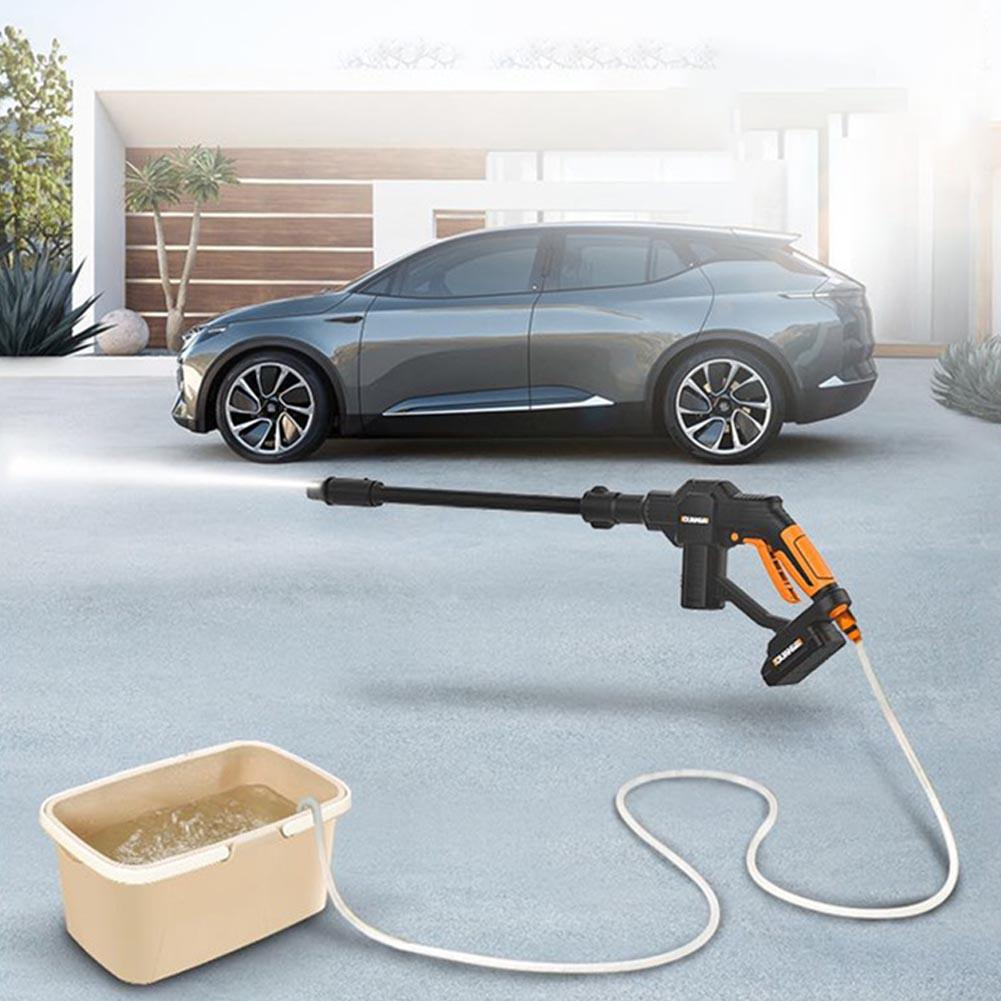 High Pressure Car Washer Rechargeable Accesories Lithium Battery Wireless Auto Spray Water Car Cleaning Gun Handheld Cleaner