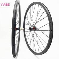 YASE 27.5er carbon mtb wheelset 30x28mm tubeless carbon disc wheel boost NOVATEC D791SB D792SB 110x15 148x12 bike disc wheels|Bicycle Wheel| |  -