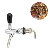 Adjustable Flow Control Chrome Draft Beer Faucet Tap G5/8 Shank Home Brew Beer Keg Faucet Silver