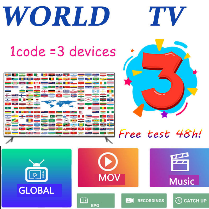 3 Devices Global World  IP TV M3U  1p  Tv  USA UK  Spanish For Android Tv M3u Enigma2 For Tv Box Only No Channels Included
