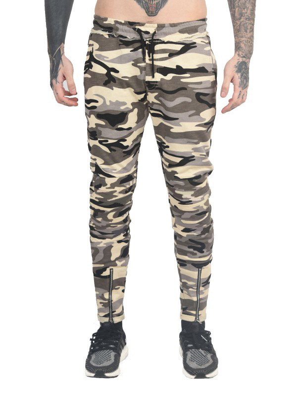 2018 Ouma New Style Camouflage Casual Pants Closing Foot Zipper Elastic Waist Of Trousers Gymnastic Pants K40