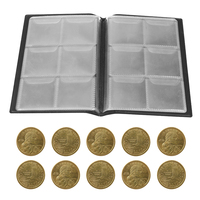 60 Pockets Coin Holders Collecting Album Storage Coin Collection Supplies Book Currency Holder Collecting Album Random Color|Photo Albums|Home & Garden -