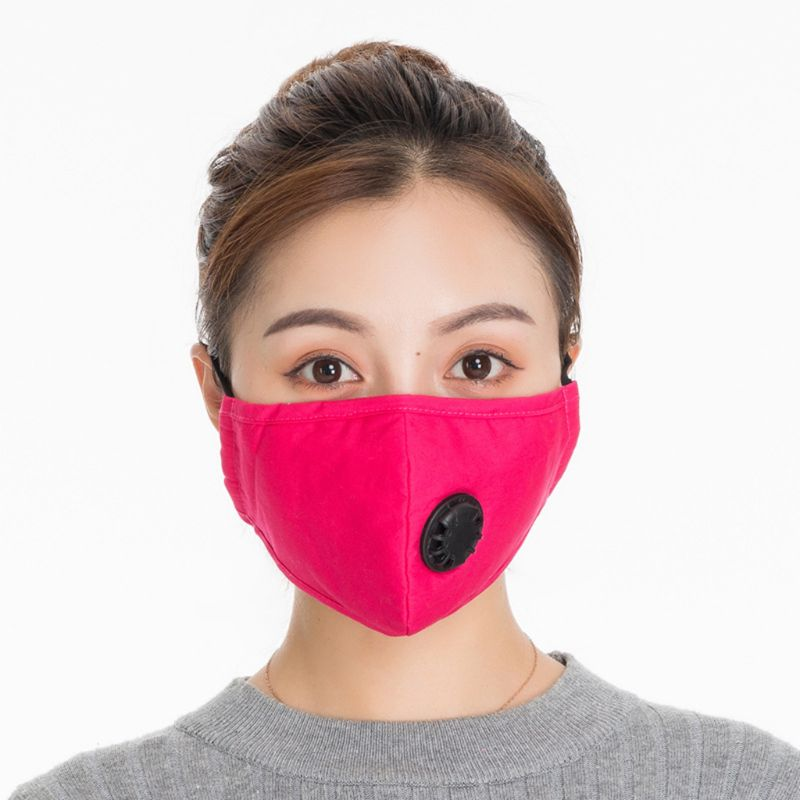 Adult Unisex Outdoor Cotton Washable PM2.5 Anti Pollution Mouth Mask With Valve 95AB