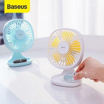 Baseus Mini USB Fan Portable Cooling fan 3-Speed Smart Home Desktop Electric Fans USB Travel Fan Cooling