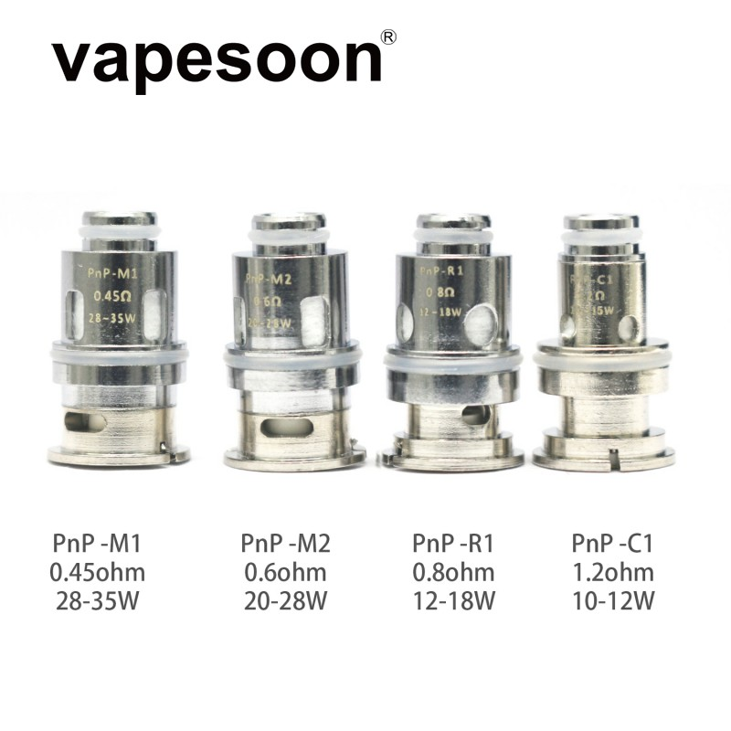 VOOPOO-Cabezal de bobina de repuesto, bobina PnP para VOOPOO VINCI / VINCI X Pod /drag s/drag x kit/Navi/Vinci AIR, 5 uds.