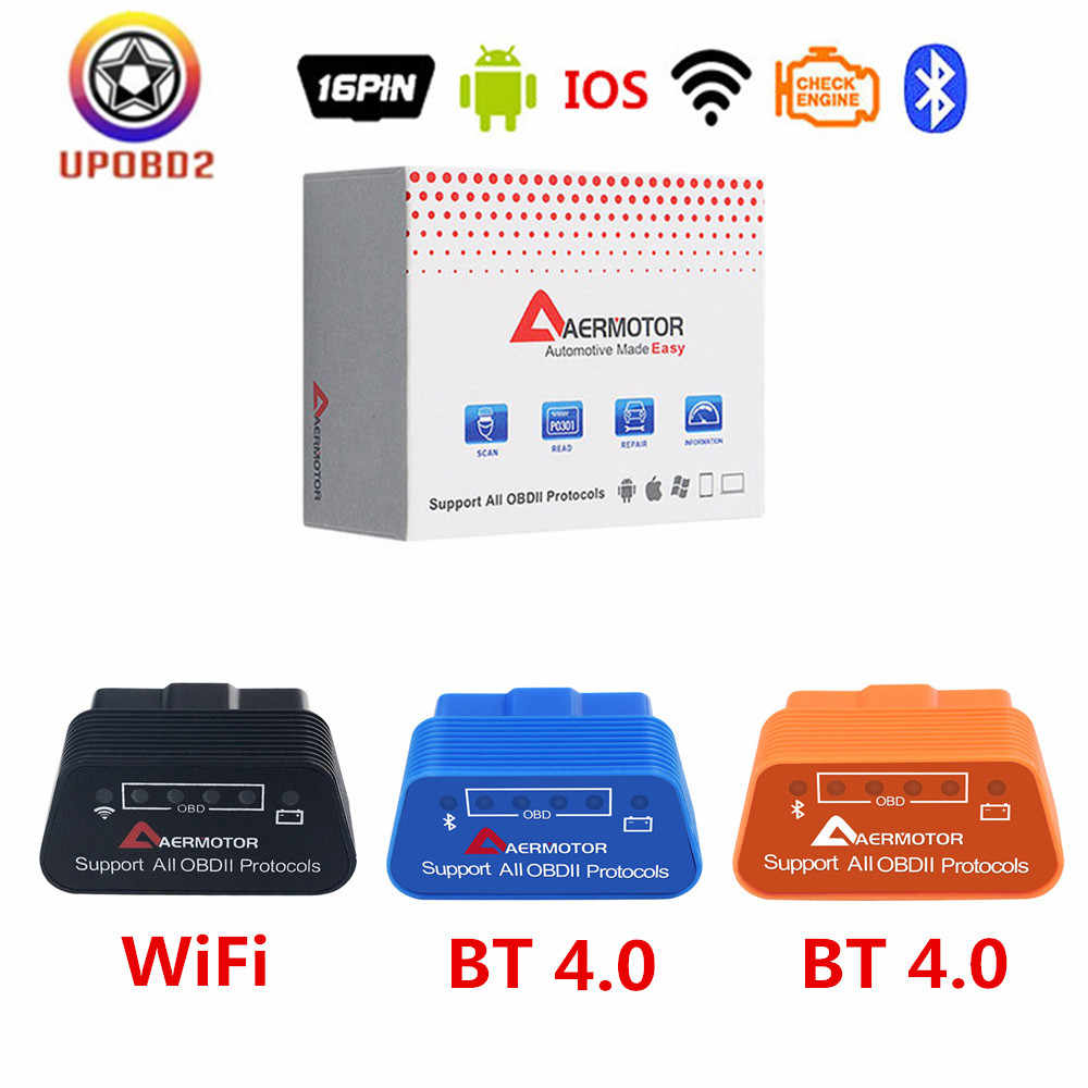 Obdii ELM327 Wifi V1.5 Bluetooth 4.0 OBD2 Scanner Elm 327 V1.5 Bluetooth 4.0 1.5 Auto Diagnostic Tool Werk Op Android ios Iphone