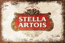 Retro estanho pinturas stella artois envelhecido olhar anúncio retro vintage estilo metal sinal pub barra ncave