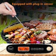 Difunctional cozinha forno/sonda de alimentos termômetro rápido preciso display digital backlight função alarme cozinhar ferramentas carne cozida