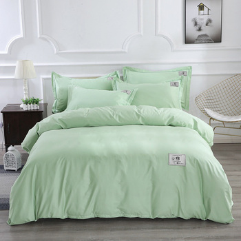 Solid Color Grey Purple Green Pink Red Blue Bedding Set Twin Queen King Size Bed Sheets Duvet Cover Cotton Home Textiles
