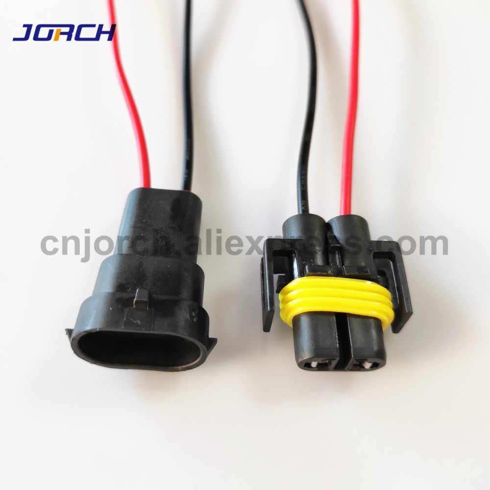 1 Set 2 Pin H8 H11 Adaptor Rangkaian Kabel Mobil Auto Kawat Konektor dengan 15 Cm Kabel untuk HID LED headlight Kabut Lampu Lampu Bohlam