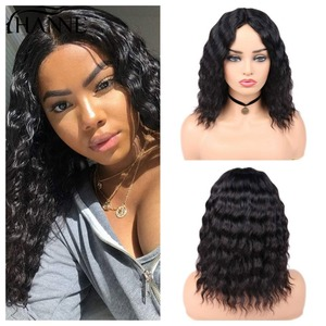 HANNE Hair Human Hair Wigs Loose Deep Wave Wigs Middle Part 100% Brazilian Remy Hair Glueless Wig Natural Color(China)