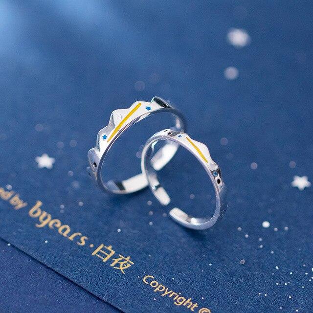 Купить кольцо leouerry для пар из серебра 925 пробы с луной и звездами картинки цена