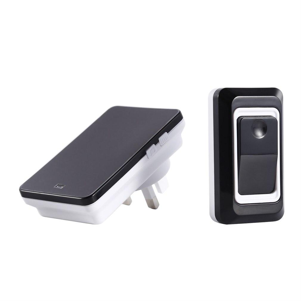 Wireless Doorbell Portable Wirless Digital Cordless Door-Bell Kit Waterproof 1000ft/ 300m Range With Plug-in Receivers