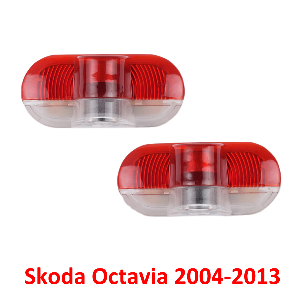 Car <font><b>LED</b></font> Door Logo Welcome Lights Laser Projector For <font><b>Skoda</b></font> <font><b>Octavia</b></font> 1Z 5A 2004 2005 2006 2007 2008 2009 <font><b>2010</b></font> 2011 2012 2013 image