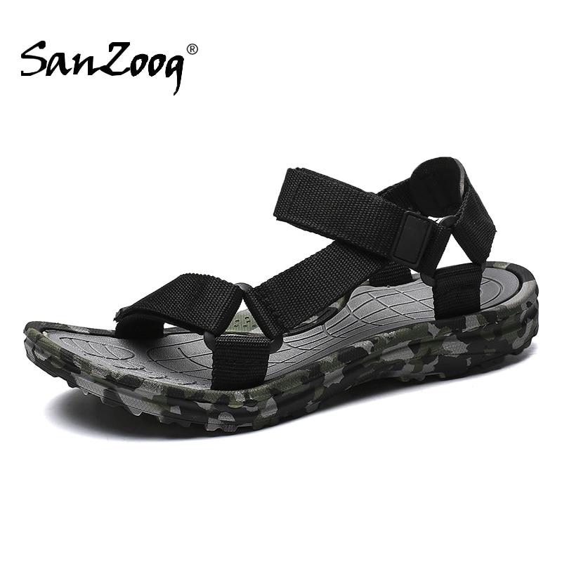 Classic Men Gladiator Sandals Summer Fashion Beach Sandals Outdoor Camouflage Roman Sandals Casual Plus Size 48