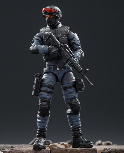 JOYTOY 1/18 aksiyon figürü SWAT asker oyun karakter çapraz ateş (CF) ücretsiz kargo