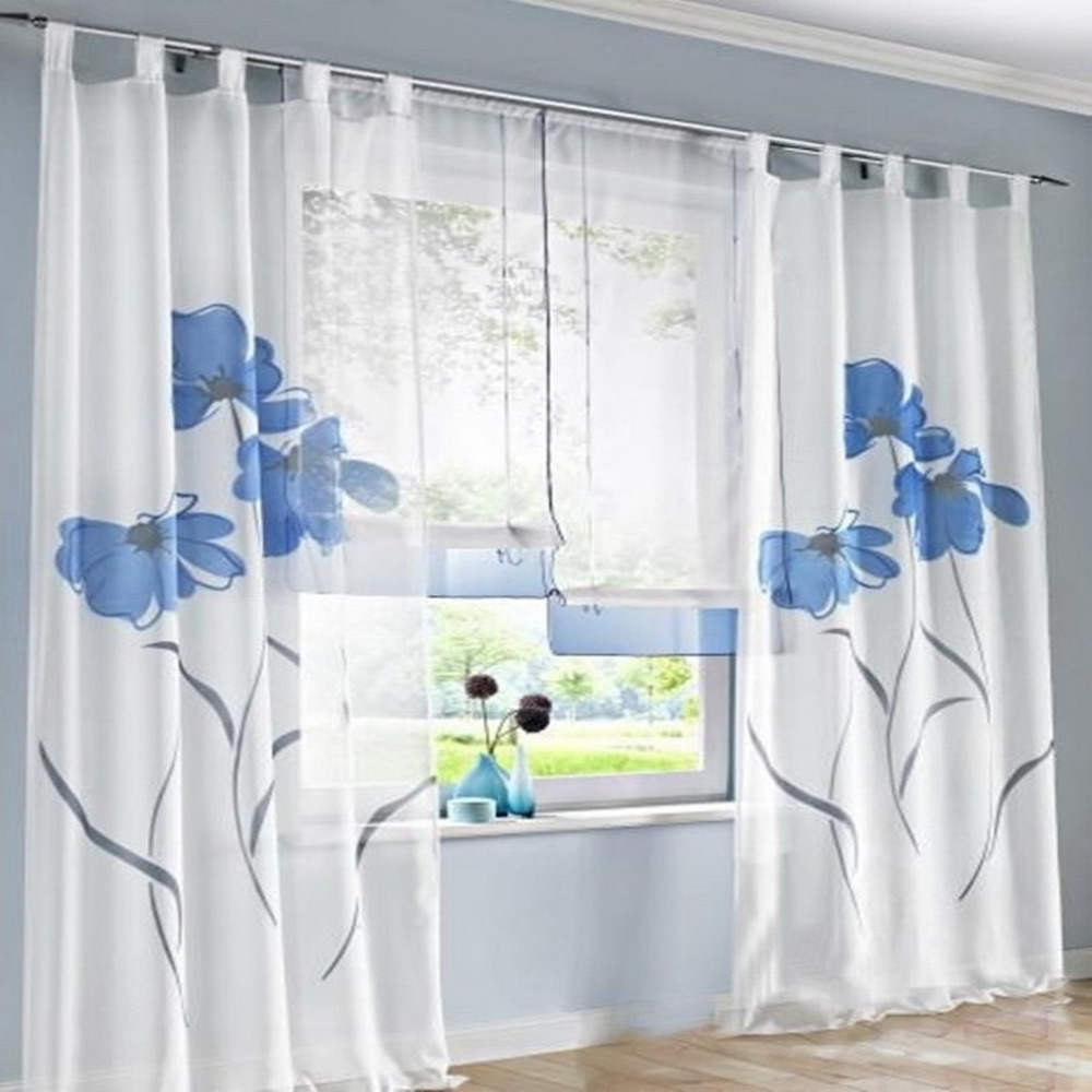2018 Hot Window Curtains Flower Treatments Provence Living Room Bedroom Kitchen Balcony Curtains Tulle Curtain Decoration