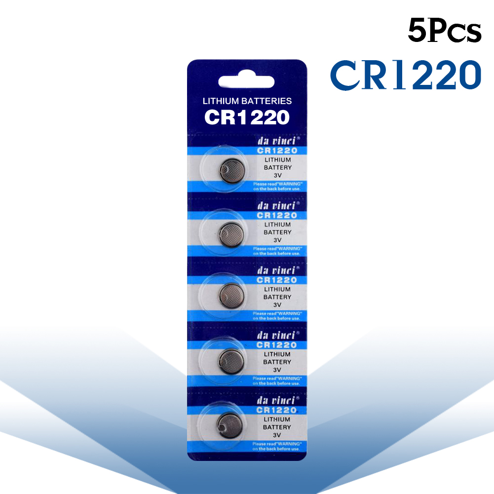 YCDC 5pcs 3v CR1220 CR 1220 Watch Pilas Batteries  Button Coin Cells Lithium Battery For Camcorders Digital Cameras Computers