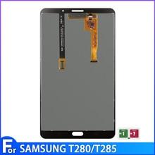 Aaa + original samsung galaxy tab um 7.0 t280 t285 lcd monitor + touch screen digitador assembléia de vidro substituição