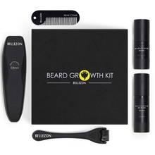 Men Beard Growth Enhancer Thicker Serum Kit With Disinfectant,Microneedle Wheel,