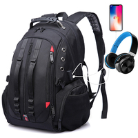 Men Backpack Large Capacity Multifunction 15.6inch Laptop USB Charging Headphone Port Luggage Fit For Casual Backpack 2019 NEW