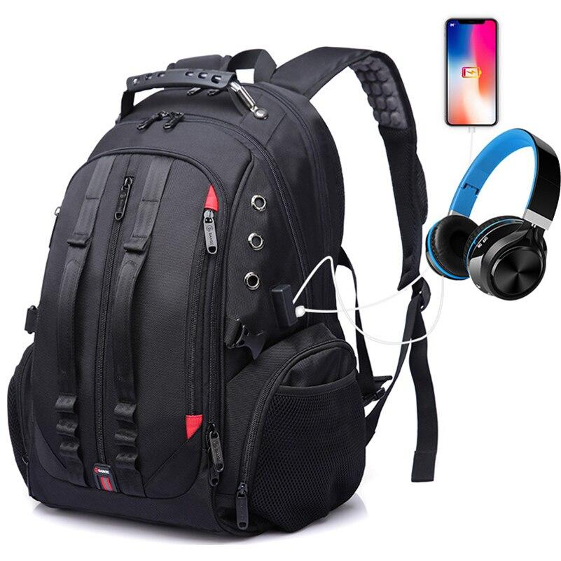 Homme sac à dos grande capacité multifonction 15.6 pouces ordinateur portable USB charge casque Port bagages Fit pour sac à dos décontracté 2019 nouveau