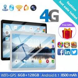 Популярный планшет на Android 8,1, 10,1 дюйма, ОЗУ 6 Гб ПЗУ, 128 ГБ, 4G, две sim-карты, Bluetooth, WiFi, 4G, планшет, бесплатные подарки