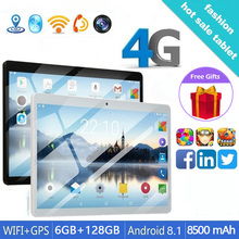 Popular Android 8.1 Tablet 10.1 Inch RAM 6 GB ROM 128GB 4G Dual SIM Card  Bluetooth WiFi 4G Tablet Free Gifts