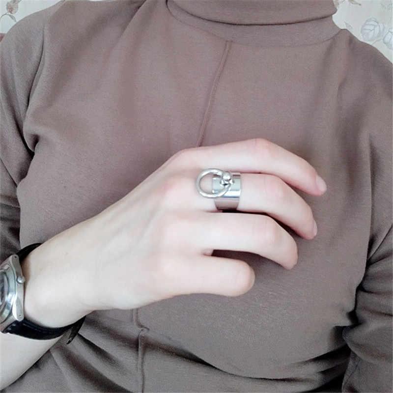 2020 サイズは調整可能なアクセサリー卸売ミニマリスト風のリング金属ファンリングジョイントリング女性のファッションリング