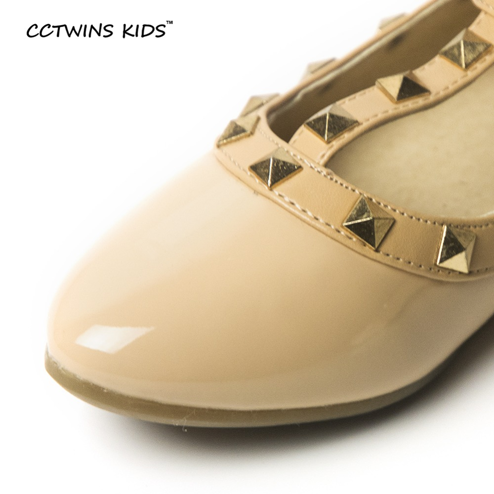 CCTWINS KIDS spring girls brand for baby stud shoes children nude sandal toddler summer shoe black white flats party shoe G358 4