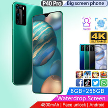 Smartphones P40 Pro Hot 6.3 Inch Android 9.0 4800Mah Mobiel Gezicht Id 8Gb + 256Gb Water Drop full Screen Unlock Mobiele Telefoons(China)