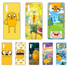 Adventure Time with Finn and Jake Transparent Phone Case For HUAWEI nove 5t p 8 9 10 p20 P30 p40 P pro Smart 2017 2019 Z lite(China)