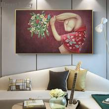 Cute Cartoon Flower Animal Canvas Painting Abstract Art Print Poster Picture Wall Children Room Bedroom Home No Frame Decoration(China)