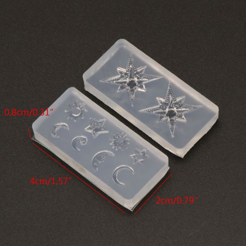 2020 New Mini Size Moon Star Sun Resin Jewelry Fillings Resin Silicone Mold Jewelry Tools