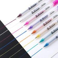 Stylo aquarelle stylo Gel Flash. Stylo Fluorescent neutre de couleur de peinture, marqueurs promotionnels et surligneurs de couleur magique de deux couleurs