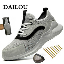 Boots Work-Shoes Lightweight Toe-Anti-Smashing Steel Breathable DAILOU Puncture-Proof