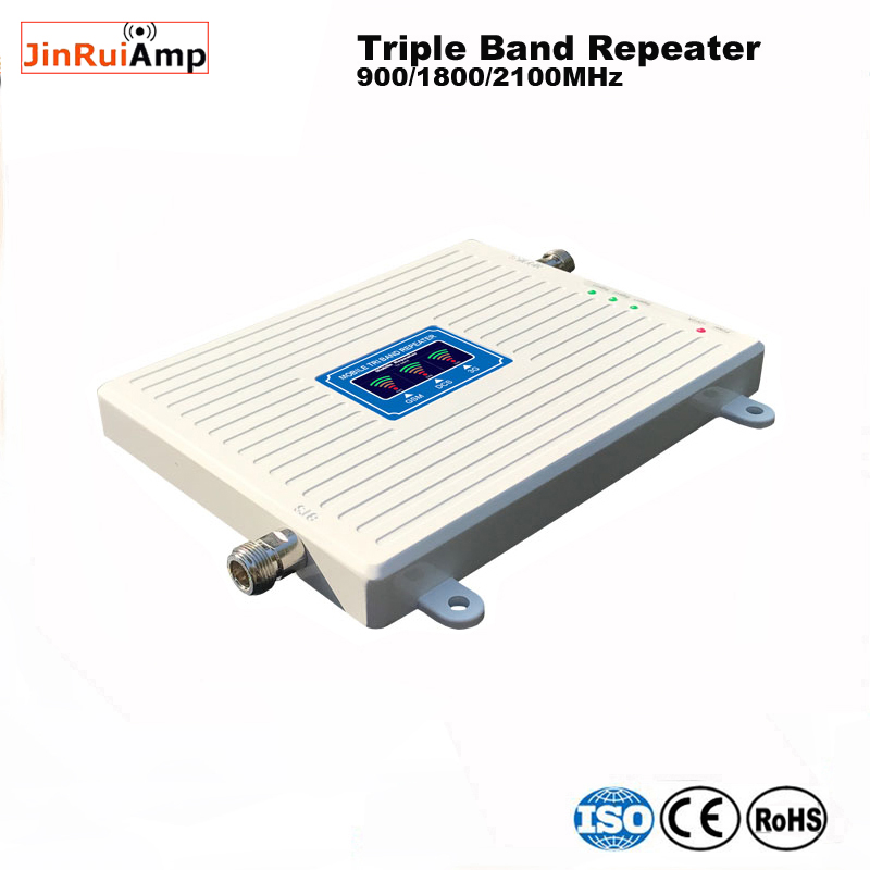 Image 3 - 2g 3g 4g repeater 900 1800 2100 Triple Band repeater gsm 900 dcs 1800 wcdma 2100 Cell Phone Signal Booster cellular amplifier-in Signal Boosters from Cellphones & Telecommunications