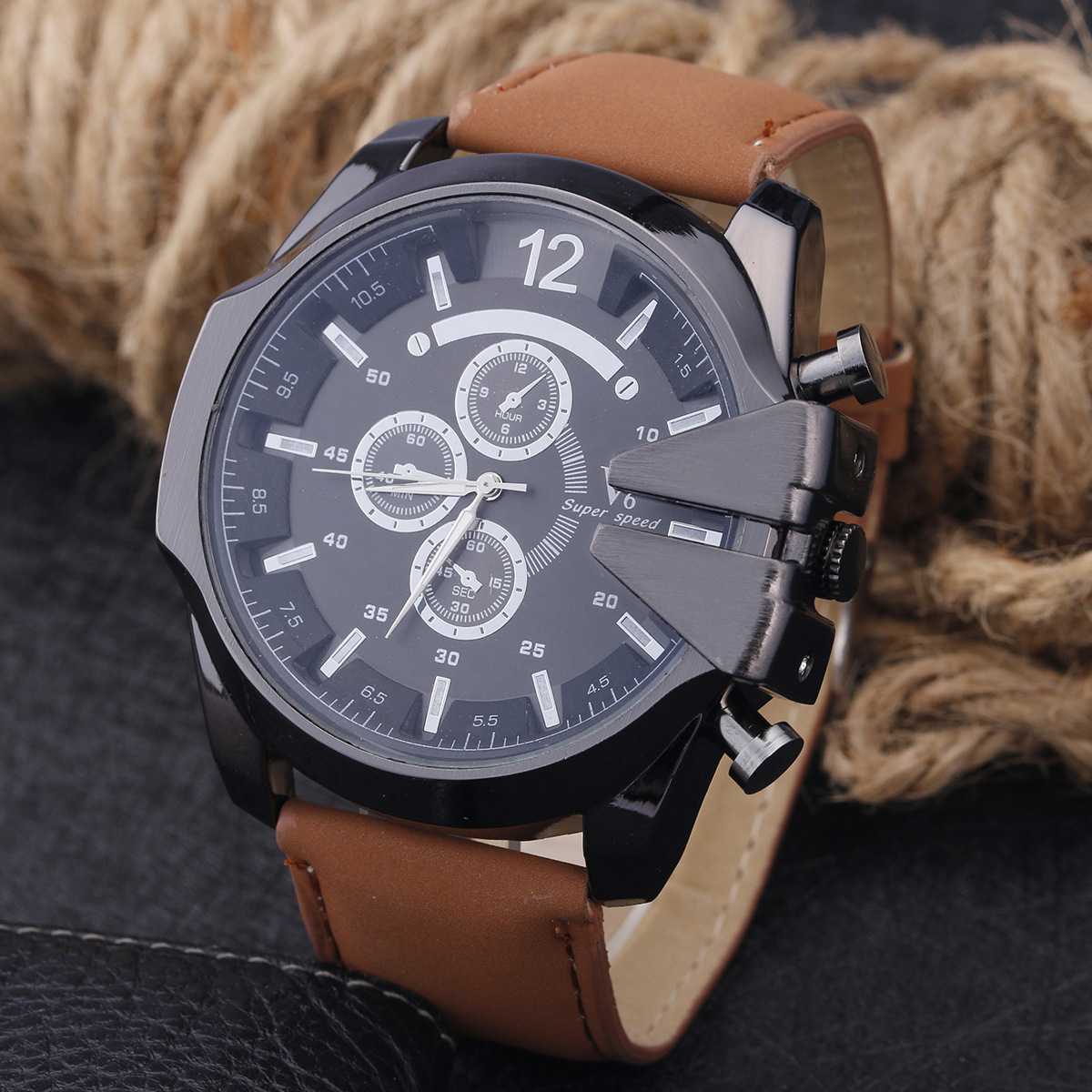 Watch Business Affairs Leisure Time Will Clock Dial Belt Quartz Watch