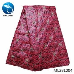 LIULANZHI afrykańskie tkaniny woskowe New arrival woskowana ankara tkaniny brązowy i w najlepszych cenach batik tkanina wyszywana kamieniami/koraliki ML2BL001-ML2BL008
