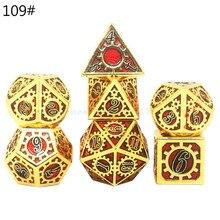 Набор Металлических Кубиков, металлические многогранные кости для ролевых игр, настольные игры D4 D6 D8 D10 D12 D20