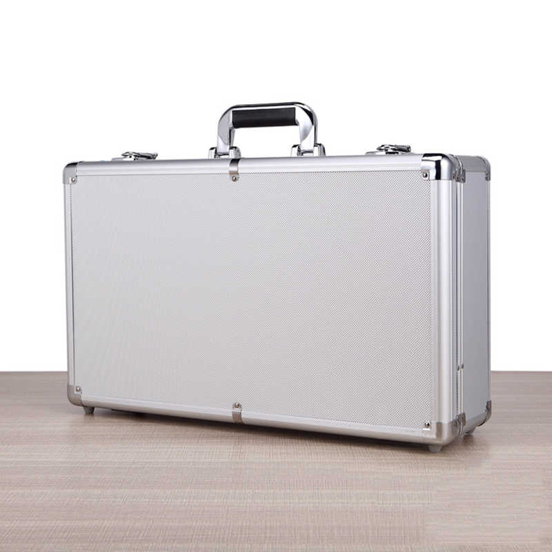 530x320x160mm Aluminium Tool Case Draagbare Apparatuur Instrument Box Storage Case Koffer Outdoor Veiligheid Toolbox