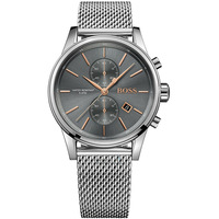 BOSS Business Wristwatch Mens Quartz Watch with Stainless Steel mens watches top brand luxury grey silver 1513440