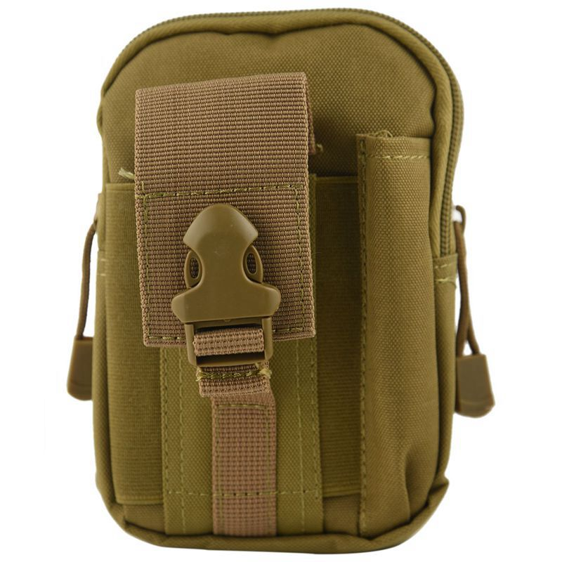 ABZC- Molle Waist Bags Men's Outdoor Sport Casual Waist Pack Purse Mobile Phone Case For Phone Sand