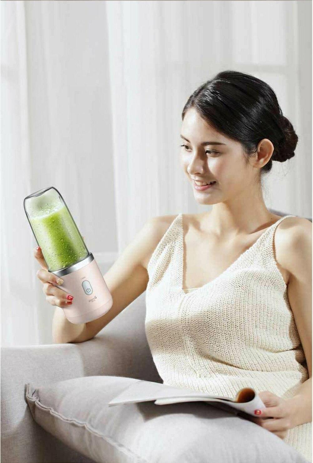 Hf34088c2b0d14d29845a362087d1f9c6O Xiaomi Deerma Portable Blender Electric Juicer 400ML Wireless Automatic Multipurpose USB Rechargable Mini Juice Cup Cut Mixer