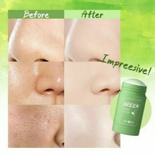 Green Tea Cleansing Solid Mask Mud Cream Whitening Moisturizing Purifying Face Masks Clay Stick Oil Control Anti-Acne Skin Care
