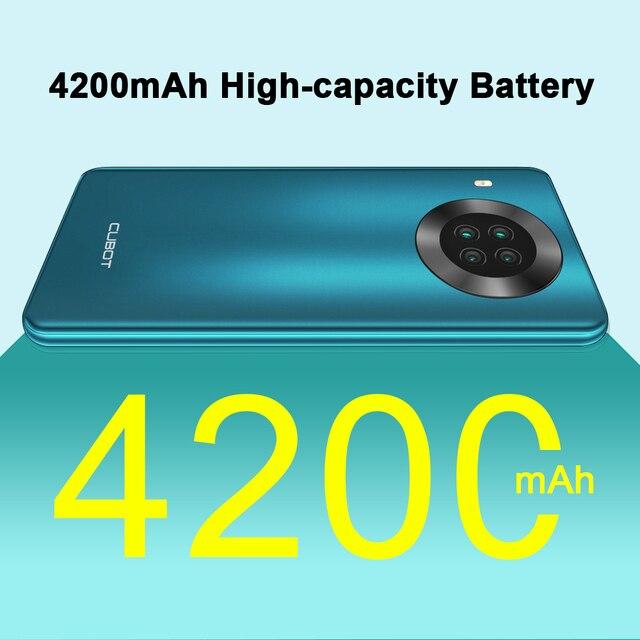 "Cubot Note 20 Pro Quad Camera Smartphone NFC 6GB/8GB+128GB 6.5"" 4200mAh Android 10 Dual SIM Telephone 4G LTE celular Note20 Pro 5"