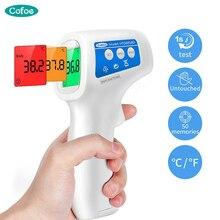 Cofoe электронный термометр лоб бесконтактный инфракрасный Детский градусник ЖК-дисплей температура тела жар цифровой ИК измерительный инструмент пистолет для детей и взрослых