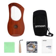 Ammoon небольшой 7-ой Лира Арфы Лира пианино Стальная проволока струны из красного дерева, фанеры тела красном дереве Topboard с сумкой для переноски