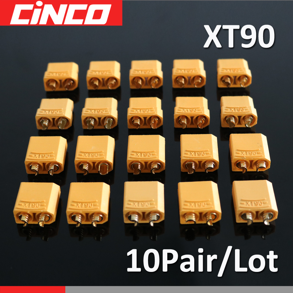 10 Pairs / Lot XT 90 90 A Max Quadcopter Multicopter Connectors Bullet Plug RC Lipo Battery Xt-90 XT90U For RC Lipo Battery